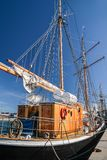 Large, old sailing ship Stock Photos