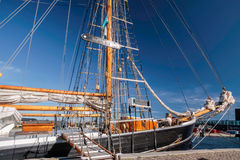 Large, old sailing ship Stock Photography