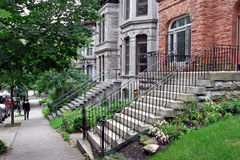 Old townhouses stock photography