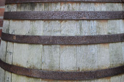 Large old wine barrel. Background stock images
