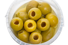 Large olives pitted Royalty Free Stock Image