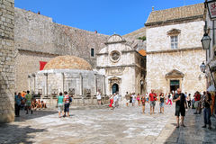 Large Onofrio`s Fountain in Dubrovnik Old Town, Croatia Stock Photography