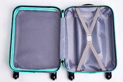 Large open fashionable suitcase. Royalty Free Stock Photo