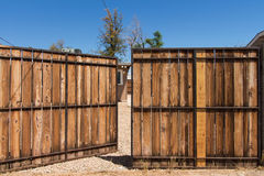 Large Open Gate Royalty Free Stock Photography
