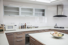 Large, open, modern kitchen. Stock Photography