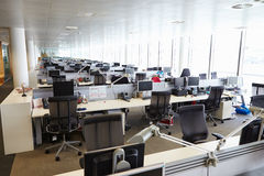 Large open plan office interior without people Royalty Free Stock Photography