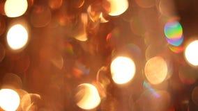 Large orange chandelier of glass stock video