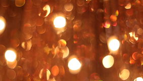 Large orange chandelier of glass stock video footage