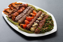Large Oriental mixed grill Stock Photography