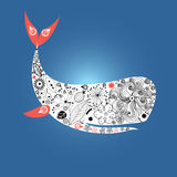 Large ornamental whale Stock Photo