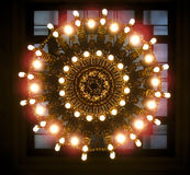 Large ornate chandelier Royalty Free Stock Images