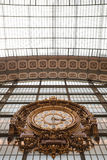 Large ornate railway clock in Orsay, Paris Stock Photo