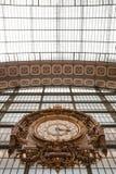Large ornate railway clock in Orsay, Paris Stock Photo