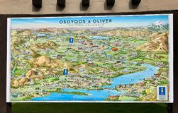 Large Osoyoos Town Map stock photo
