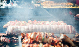 Large outdoor barbecue Stock Photography