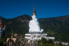 Large outdoor Buddha statue on Wat Pha Sorn Kaew temple. Royalty Free Stock Images