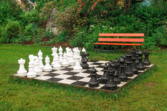 Large outdoor chess Royalty Free Stock Image