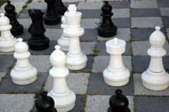 Large outdoor chess set Stock Photo