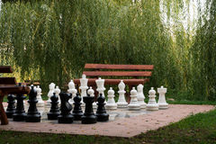 Large outdoor chess set Stock Image