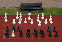Large outdoor chess. Stock Photography
