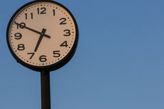 Large Outdoor Clock Royalty Free Stock Photo