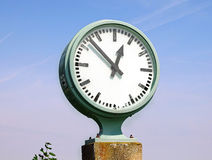 Large outdoor clock Royalty Free Stock Images