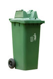 Large outdoor green garbage bin Stock Photo