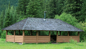 Large Outdoor Picnic Shelter Stock Photos