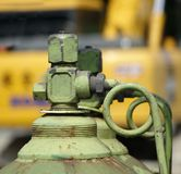 Large Oxygen Bottle at Construction Site Royalty Free Stock Photos