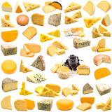Large page of cheese collection stock photo