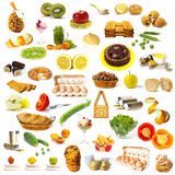 Large page of food assortment Stock Photography