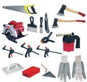 Large page of tools Royalty Free Stock Photography