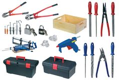 Large page of tools. Set on white Stock Photography