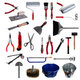 Large page of tools on white background Stock Images
