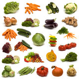 Large page of vegetables Stock Photos