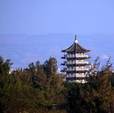 Large Pagoda in Central Taiwan Royalty Free Stock Images