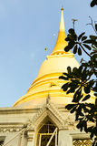 A large pagoda in Wat Pathum Wanaram. The large white pagoda was built in Wat Prathum Wanaram Royalty Free Stock Images