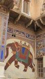 Large painted elephant Royalty Free Stock Image