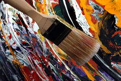 Large painting brush Stock Photography
