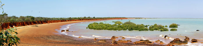 Large panorama of an Australian coastal landscape - Broome Stock Photos