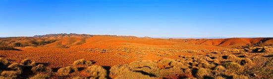 Large panorama of Australian Flinders ranges. Large panorama of the Flinders ranges in South Australia at sunset stock image