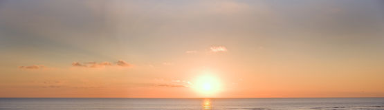Large panorama of Beautiful minimal sunset Stock Images