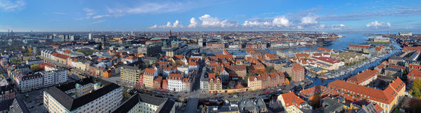 Large panorama of Copenhagen, Denmark Stock Images