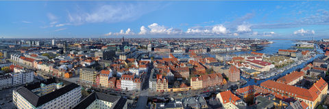 Large panorama of Copenhagen, Denmark Stock Image