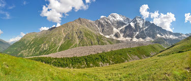 Large panorama of the Greater Caucasus Range Stock Photography