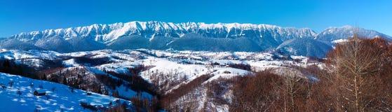 Large panorama of Piatra Craiului Mountains Stock Image