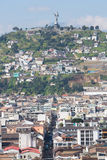 Large panorama of Quito with the Panecillo, Ecuador Stock Photography