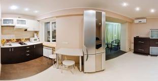 Large panorama room, studio apartment Royalty Free Stock Photo