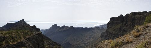 Large panorama view on Canarian Islands. Stock Images