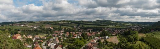 Large panorama of the village Royalty Free Stock Photo